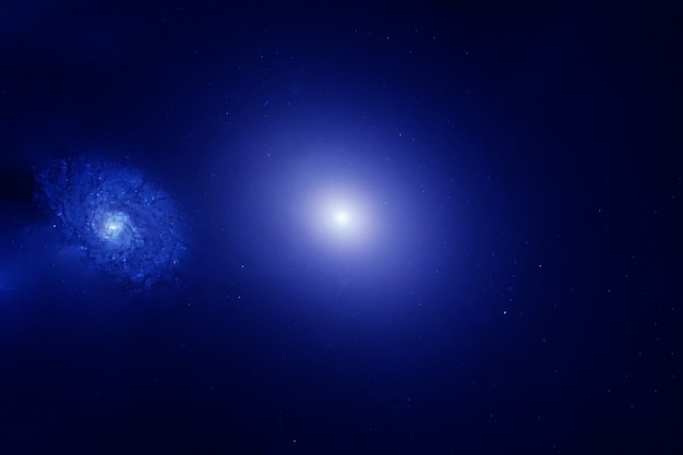 Belo espaço azul. os elementos desta imagem foram fornecidos pela nasa. foto de alta qualidade