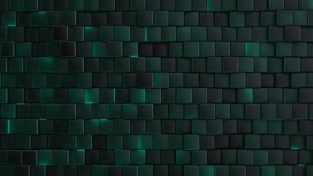 Belo fundo tecnológico decorativo. células verdes brilhantes
