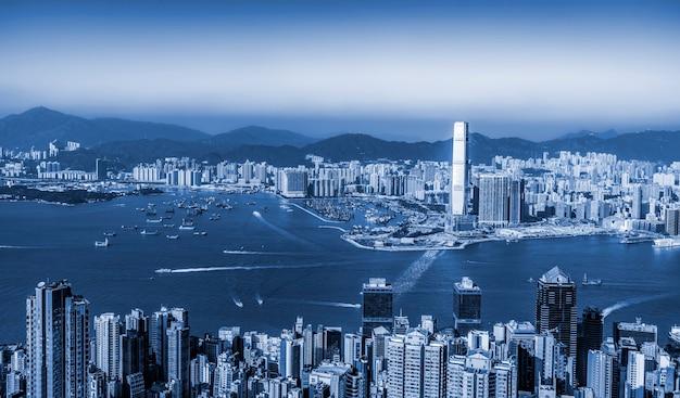 Belo horizonte da cidade de hong kong, china