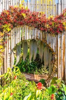 Belo jardim na royal agricultural station - doi inthanon em chiang mai, tailândia