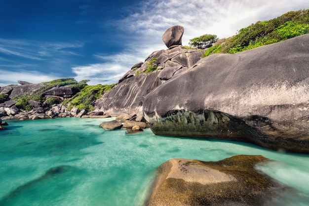 Belo litoral da tailândia