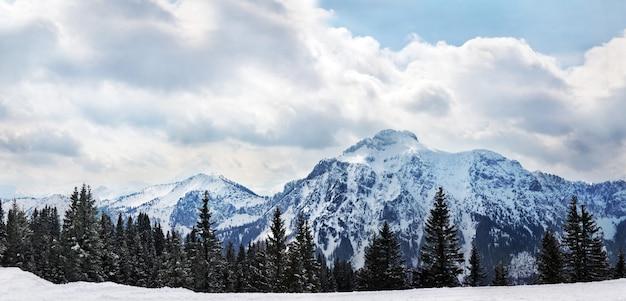 Belo panorama dos alpes europeus em schwangau, baviera, alemanhaâ € ž