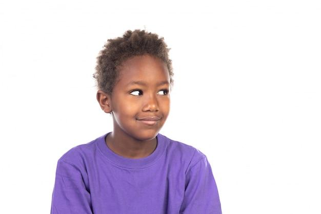 Belo rapaz afro-americano