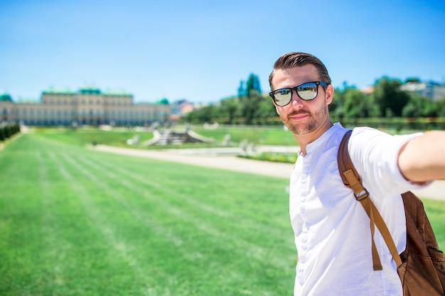 Belvedere palace no verão, viena, áustria, europa