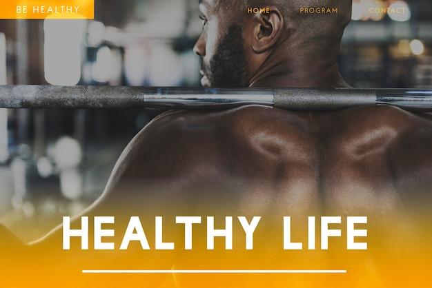 Bem-estar fitness estilo de vida saudável ícone