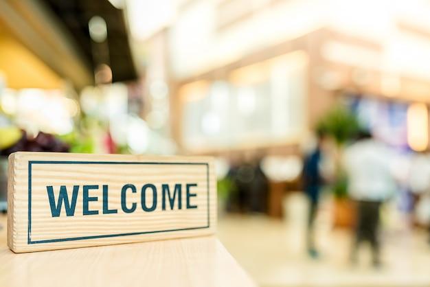 Bem-vindo, conceito de negócio