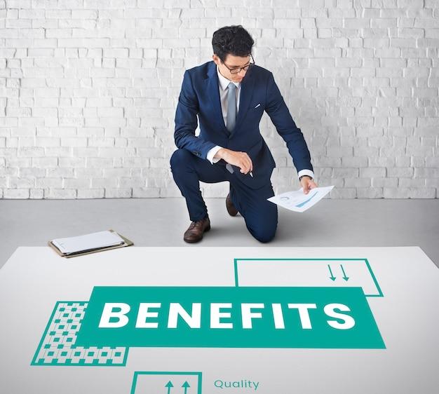 Benefícios, salários, ganhos de vantagem salarial