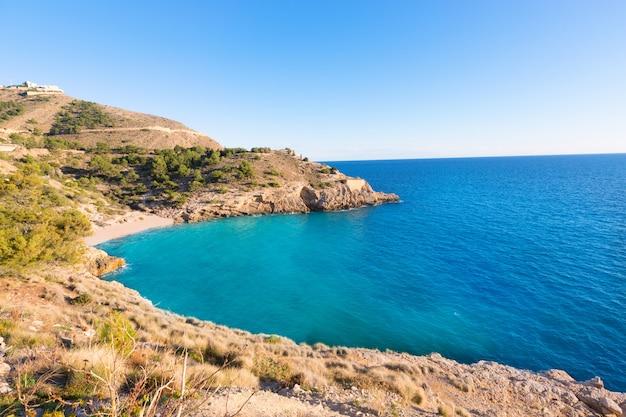 Benidorm, alicante, cala, ti, ximo, praia, mediterrâneo, espanha