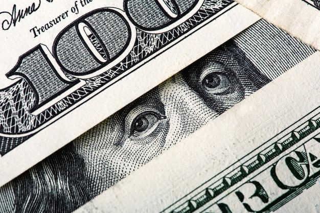 Benjamin olhando para você. fundo de dinheiro