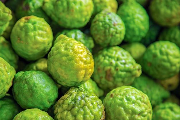 Bergamota fresca de alto ângulo, a bergamota é um dos ingredientes alimentares asiáticos.