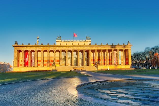 Berlin altes museum lustgarten as primeiras luzes do sol