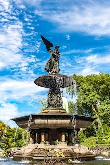 Bethesda fountain no central park, em nova york