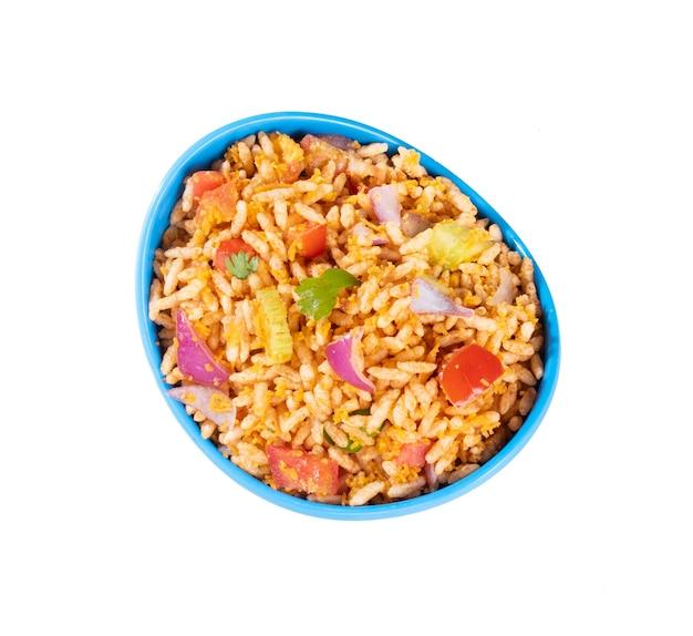 Bhelpuri caseiro é lanche salgado ou chaat