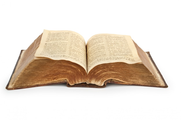 Bíblia antiga do século xix