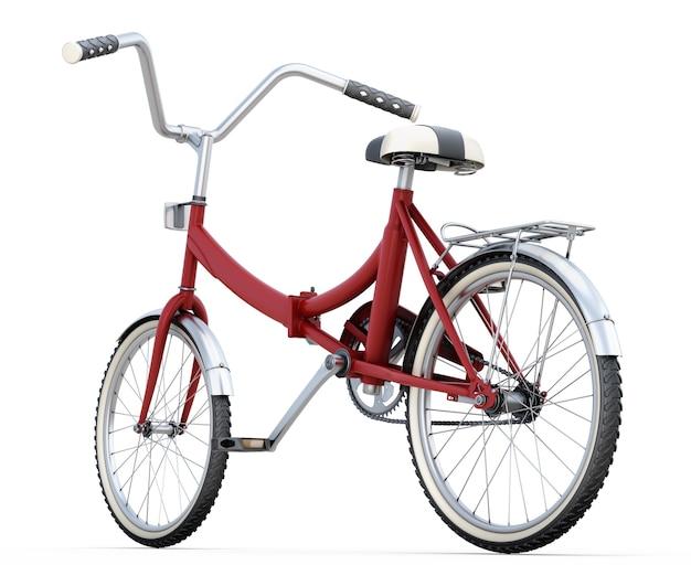Bicicleta 3d isolada no branco.
