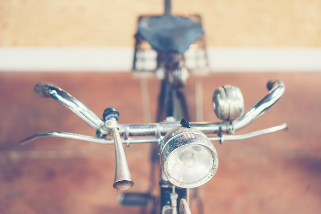 Bicicleta antiga na imagem de filtro vintage