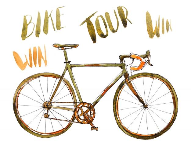 Bicicleta em aquarela