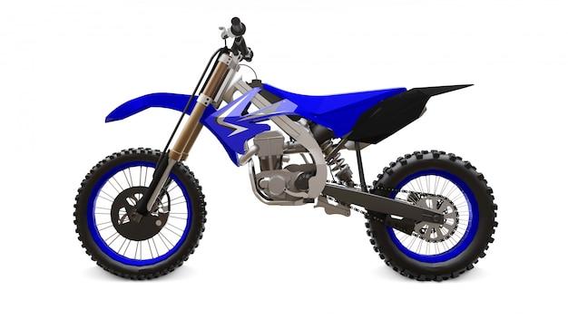 Bicicleta esporte azul e preto para cross-country em branco irt bike