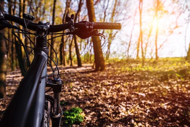 Bicicleta na estrada de campo