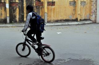 Bicicleta para a escola