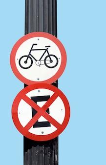 Bicicletas de placa de sinal de trânsito