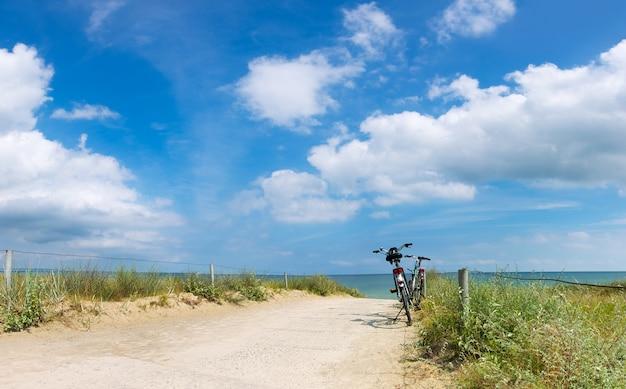 Bicicletas na praia