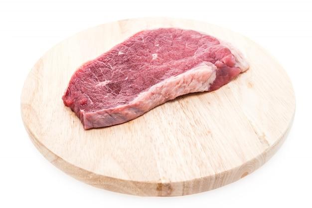 Bife de cozimento branco carne um