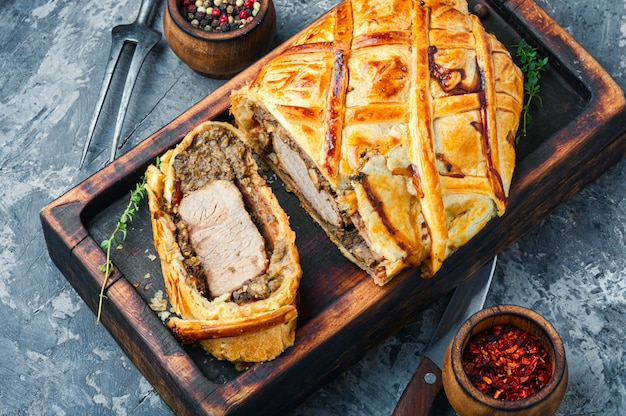 Bife de natal caseiro wellington