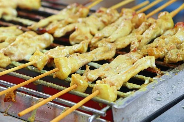 Bife tailandês de porco assado