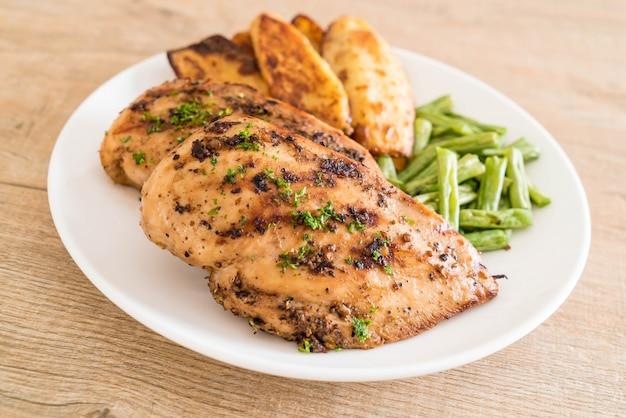 Bifes de frango grelhado