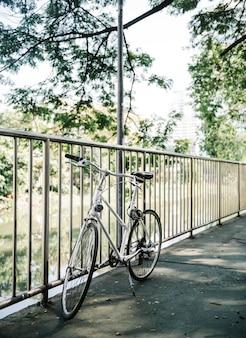 Bike em um caminho do parque