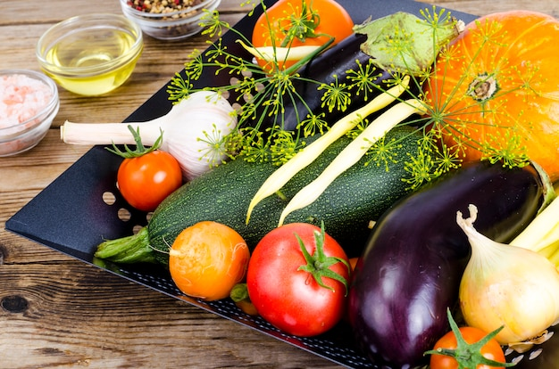 Bio legumes caseiros para assar