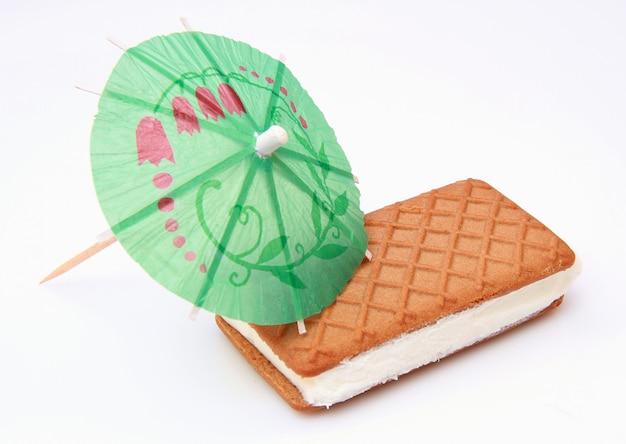 Biscoito com sorvete