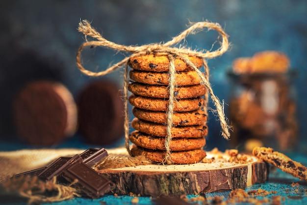 Biscoito de chocolate doce lanche saboroso delicioso