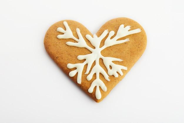 Biscoito de gengibre em forma de coração