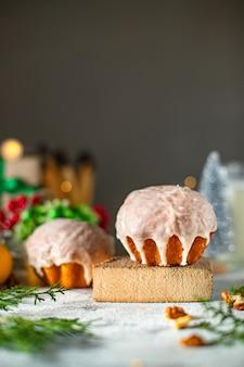 Biscoito de natal pastelaria doce biscoito pastelaria caseira bolo assado doce sobremesa