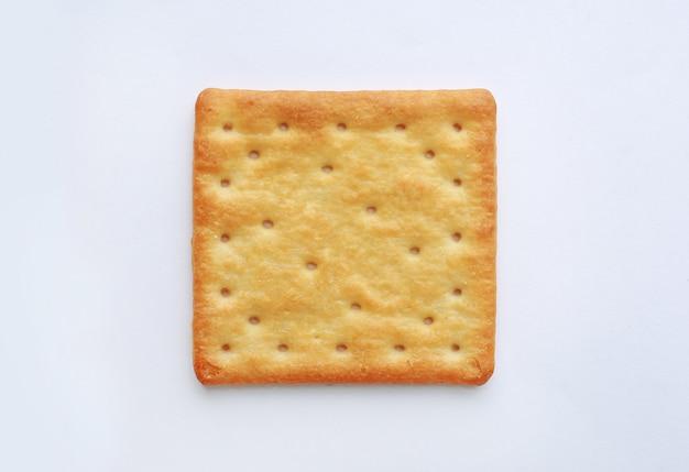 Biscoito do biscoito no fundo branco. vista do topo.