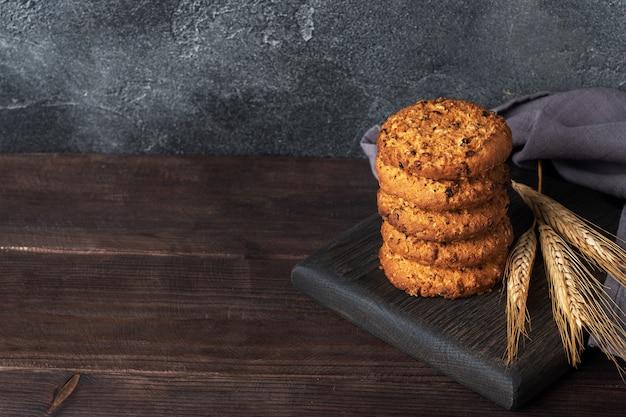 Biscoitos caseiros com cereais e sementes