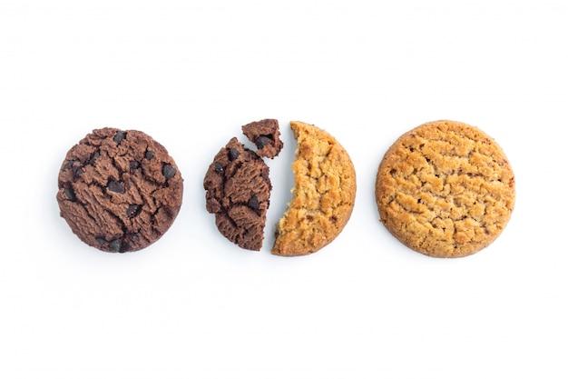 Biscoitos caseiros de chocolate e manteiga