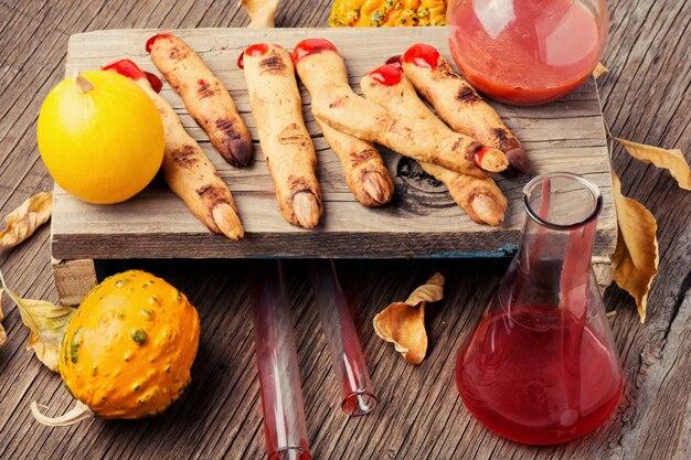 Biscoitos caseiros de halloween