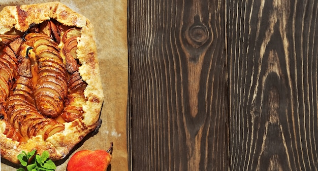 Biscoitos caseiros de pera francesa sazonal
