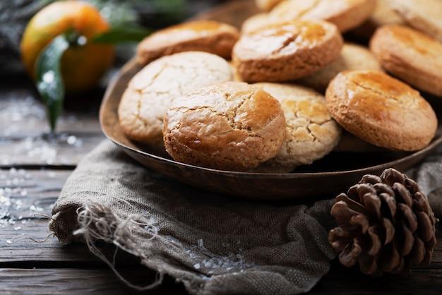 Biscoitos caseiros para o jantar de natal