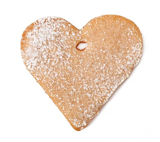 Biscoitos caseiros polvilhados com açúcar de confeiteiro