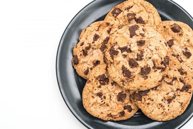 Biscoitos com chocolate escuro