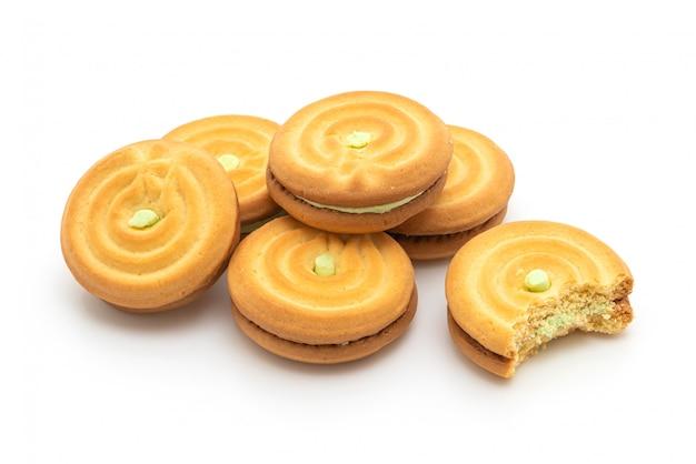 Biscoitos com creme pandan