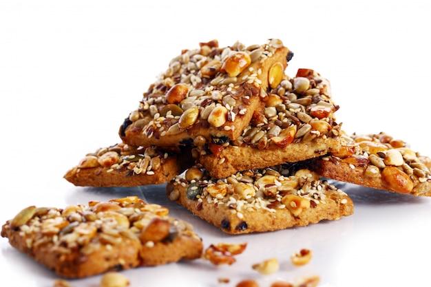 Biscoitos com diferentes ingredientes