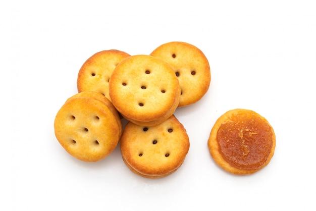 Biscoitos com geléia de abacaxi