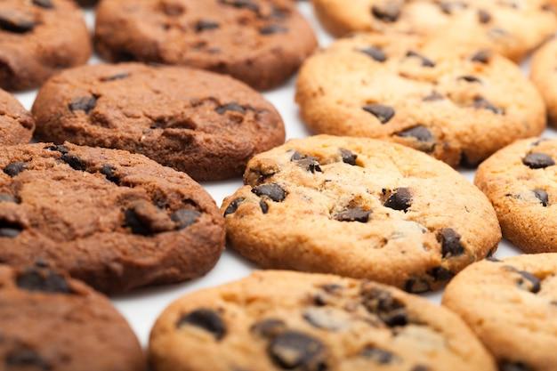 Biscoitos com gotas de chocolate