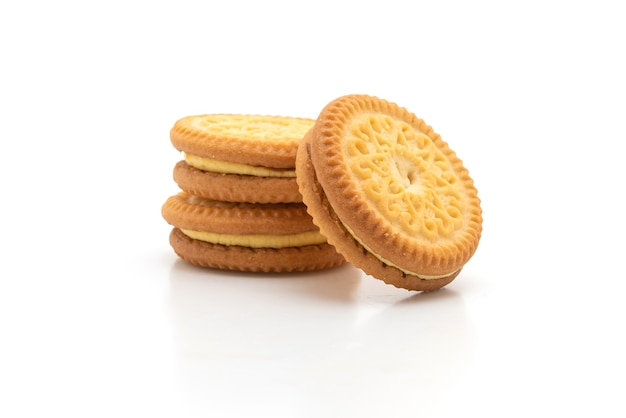 Biscoitos com manteiga e creme de baunilha