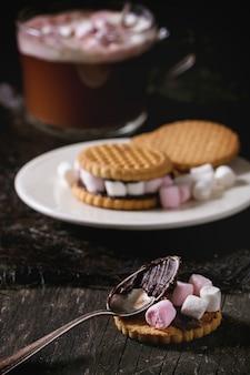 Biscoitos com marshmallows
